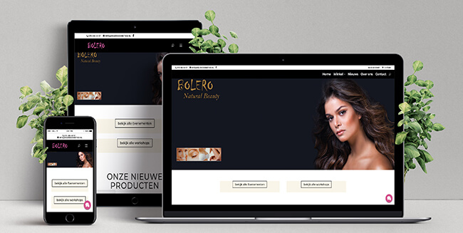 Website Bolero cosmetics